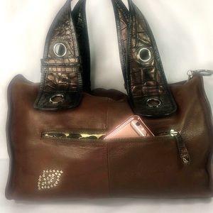 Betsey Johnson Bags - Betsy Johnson Large Brown Satchel